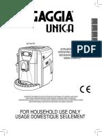 Gaggia Unica User Manual