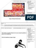 types of harassment - storyboard