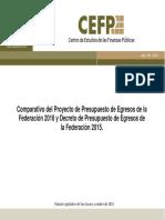 Comparativo Pef 2015 2016