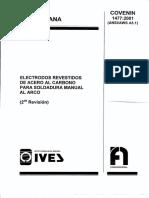 Electrodo, Revestido de Acero Al Carbono. 1477-01