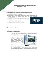 Protocolo de Trabajo Seguro Para Las Mantenciones de La Maquinaria Slitter
