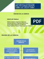 PRESENTACION MAQUETA RAICES DE LA CIENCIA