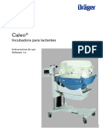 Dräger Caleo Incubator - User Manual (Es)
