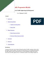 Traffic Progression Models