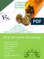 hw499 unit 4 project medical marijuana sasha avila