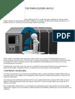 10 Aspectos Para Elegir Un PLC