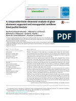 A Comparative Finite Elemental Analysis of Glass Abutment Supported and Unsupported Cantilever Fixed Partial Denture