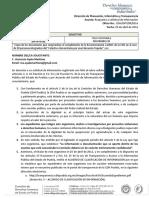 Respuesta de la CDH a solicitud de información sobre recomendación 11/2015