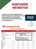 Medicina transfusional en neonatos protocolos de transfusión (1)