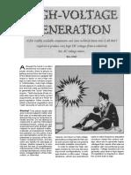 High Voltage Generation