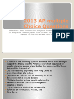 2013 AP Multiple Choice Questions