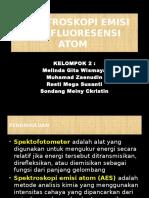 Atomic Emision and Fluorocence Spectroscopy
