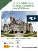 Evaluación de la Calidad de la Investigación y de la Educación Superior (VIII Foro)