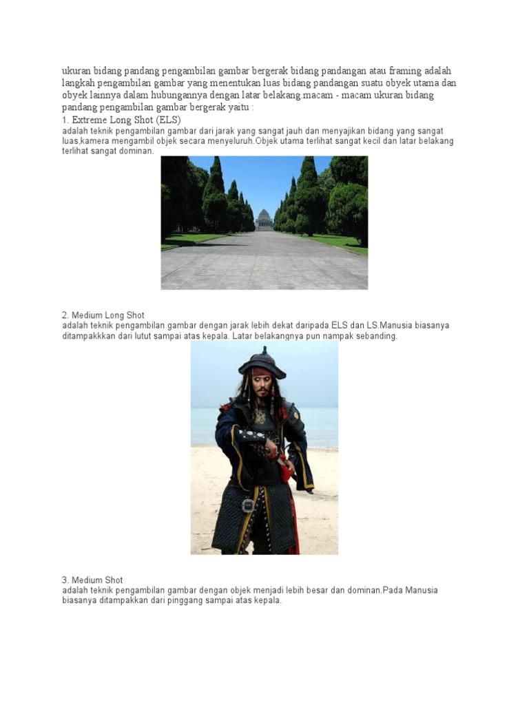 Ukuran Bidang Pandang Pengambilan Gambar Bergerak Docx