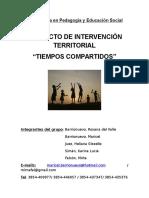 Proyecto Final de La Diplomatura en Pedagogía y Educación Social