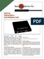 Digital Frequency Discriminators