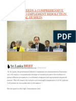 Sri Lanka Needs a Comprehensive Strategy to Implement Resolution 30 1- Zeid Al Hussein