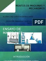 Ensayo de Materiales Diapositivas Paz Cordova