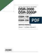 DSR2000_SMV1 SONY Service Manual