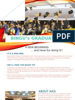 BINGU'S GRADUATION DAY-A NEW BEGINING by the Association of African Students in India AASI