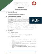Informe Geomorfológico de Shaullo - Cajamarca