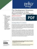 The Development Dimension of E-Commerce in Asia