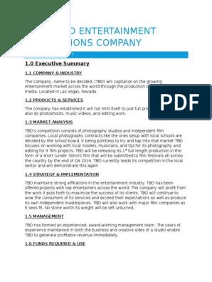 Entertainment company business plan application essay sample for graduate school