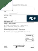 Prelim 2012 Paper 2 Answer Booklet