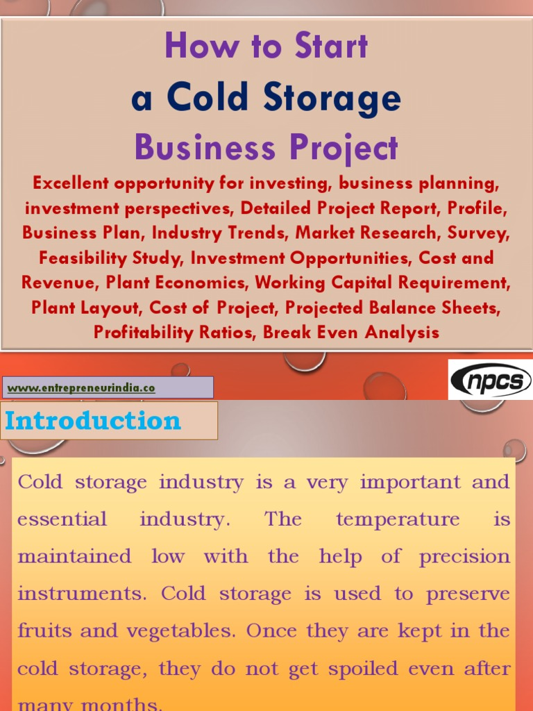 How to Start a Cold Storage Business Project Excellent opportunity for investing business planning investment perspectives Detailed Project Report ...  sc 1 st  Scribd & How to Start a Cold Storage Business Project Excellent opportunity ...