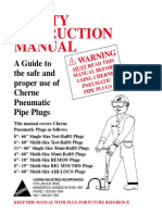 Cherne Pipe Plug Safety Manual