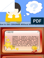How to Get CENOMAR without Birth Certificate