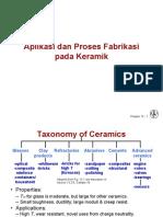 Aplikasi Dan Proses Fabrikasi Keramik