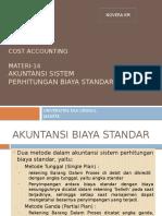 Akuntansi Sistem Biaya Standar