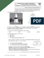 Exercícios de Exame - 9º Ano - Geometria e Trigonometria