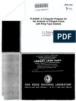 FLANGE - A Computer Program for the Analysis of Flanged Joints With Ring-Type Gaskets