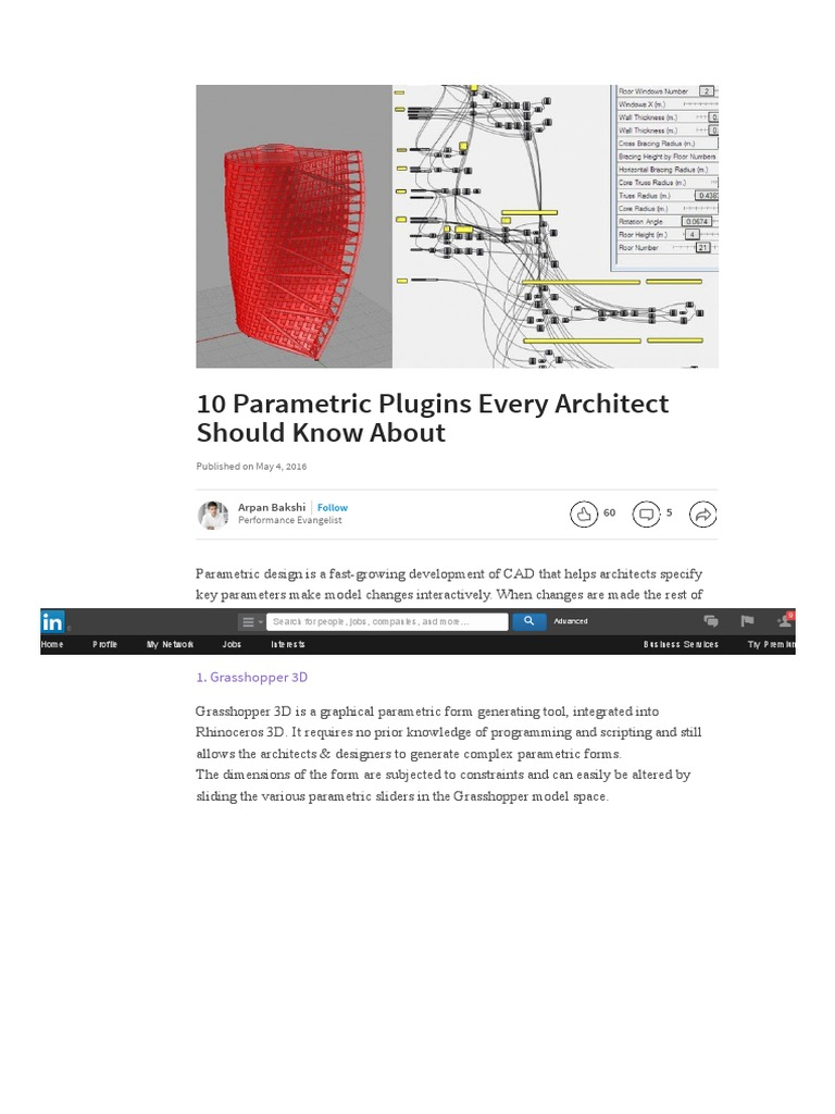 10 Parametric Plugins Every Architect Should Know About _