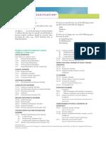 Classification of DSM IV