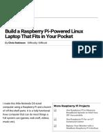 Build a Raspberry Pi-Powered Linux Laptop