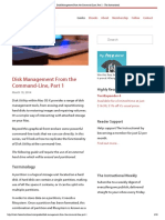 Disk Management From the Command-Line, Part 1 - The Instructional