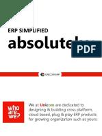 Unicom ERP - Product Deck