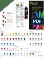 Aqua Color Shade Card