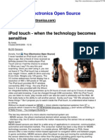 iPod touch - when the technology becomes sensitive
