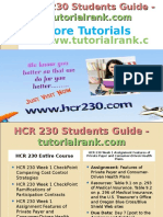 HCR 230 Students Guide -Tutorialrank.com