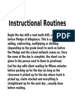 instructional routines