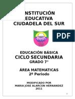 Guia Matematicas Segundo Periodo Septimo Blog1