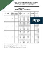 Price List Big Welded Black Steel Pipes