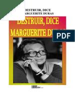 DURAS,Marguerite. Destruir, Dice