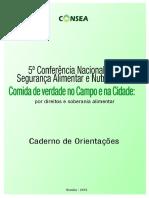 Caderno de Orientação CONSEA