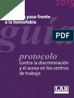 Guía + protocolo contra la homofobia