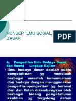 Konsep Ilmu Sosial Budaya Dasar